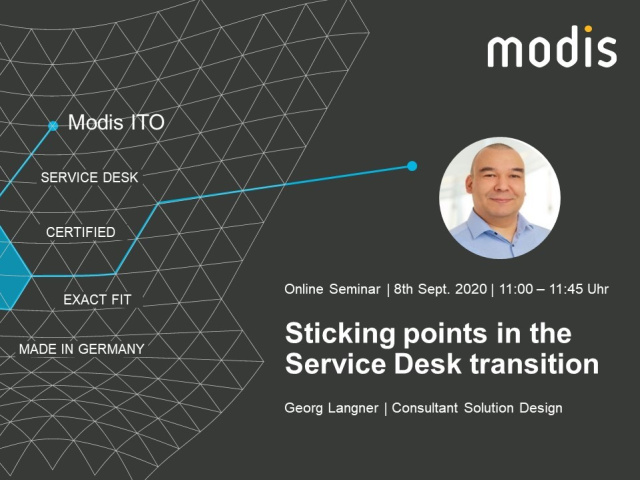 Sticking points in the Service Desk Transition